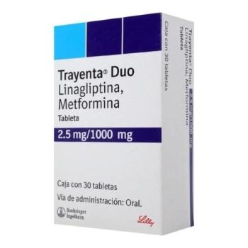 TRAYENTA DUO (LINAGLIPTIN / METFORMIN) 2.5mg/1000mg 30 TAB