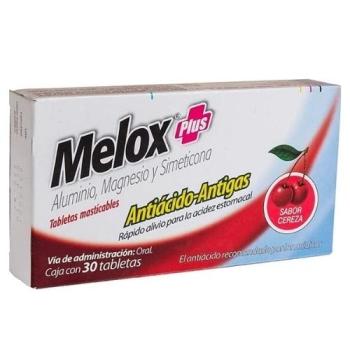 MELOX PLUS (Aluminio.magnesio y dimeticona) 30tabletas