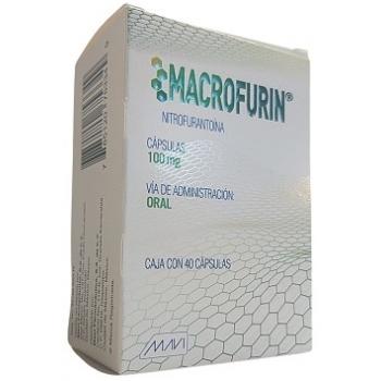 MACROFURIN (NITROFURANTOINA) 100MG 40CAP - Farmacia Del