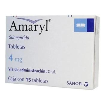 AMARYL (Glimepirida) 4MG 15Tabletas - Farmacia Del Niño