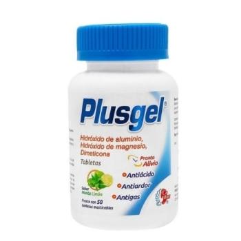 PLUSGEL (hidoxido de aluminio,magnesio,dimeticona) 50 TABLETAS