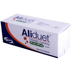 ALIDUET ( orlistat / L-carnitina ) 120 mg / 600 mg C/30 CAPSULAS