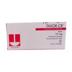 TAVOR CR ( CLORHIDRATO DE OXIBUTININA ) 10 G C / 10 TABLETAS