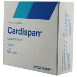 CARDISPAN TABLETAS MASTICABLES 1G C/20 TABS