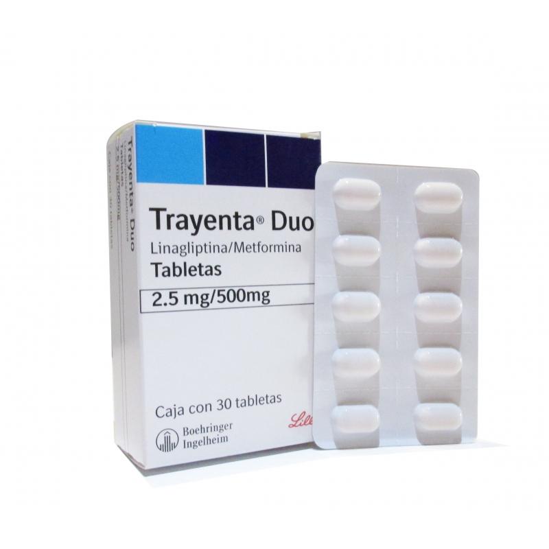 TRAYENTA DUO (Linagliptina/ Metformina)  2.5/500 MG 30 TAB