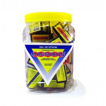 MAGSOKON SAL DE EPSOM (Sulfato de magnesio puro) Vitrolero 25 piezas