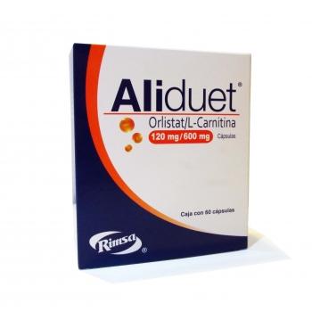 ALIDUET (ORLISTAT/ L-CARNITINA) 60 CAPS 120 MG - Farmacia