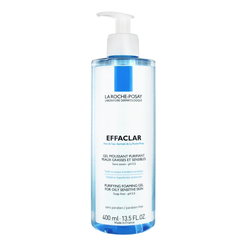 EFFACLAR Gel moussant, limpiador purificante 400ml