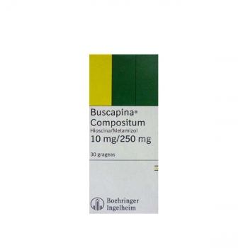 BUSCAPINA COMPOSITUM (Hioscina/metamizol sódico) 20 GRAGEAS