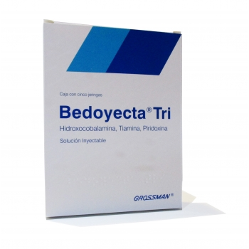 BEDOYECTA TRI (B COMPLEX) 5INJECTIONS 2ML *!!!!NON SHIPPABLE OUTSIDE OF MEXICO!!!