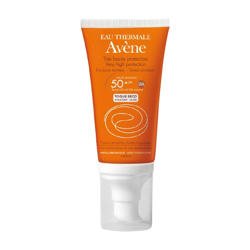 AVENE EMULSION TOQUE SECO CON COLOR 50+ 50 ML