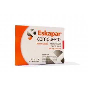 ESKAPAR COMPUEST0 (nifuroxazida-metronidazol) 20 CAPS 200mg/600mg