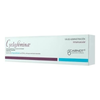 CYCLOFEMINA PRELLE (MEDROXI-PROGESTERONA / ESTRADIOL) PRELOAD INJECTION *THIS PRODUCT IS ONLY