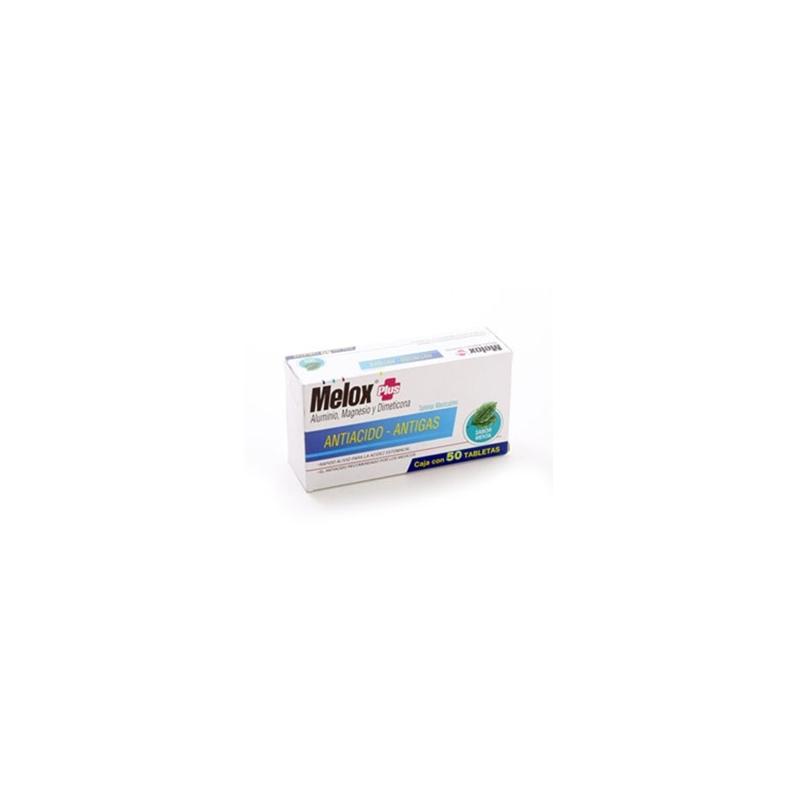 MELOX PLUS MENTA 50 TABS - Farmacia Del Niño - FARMACIA