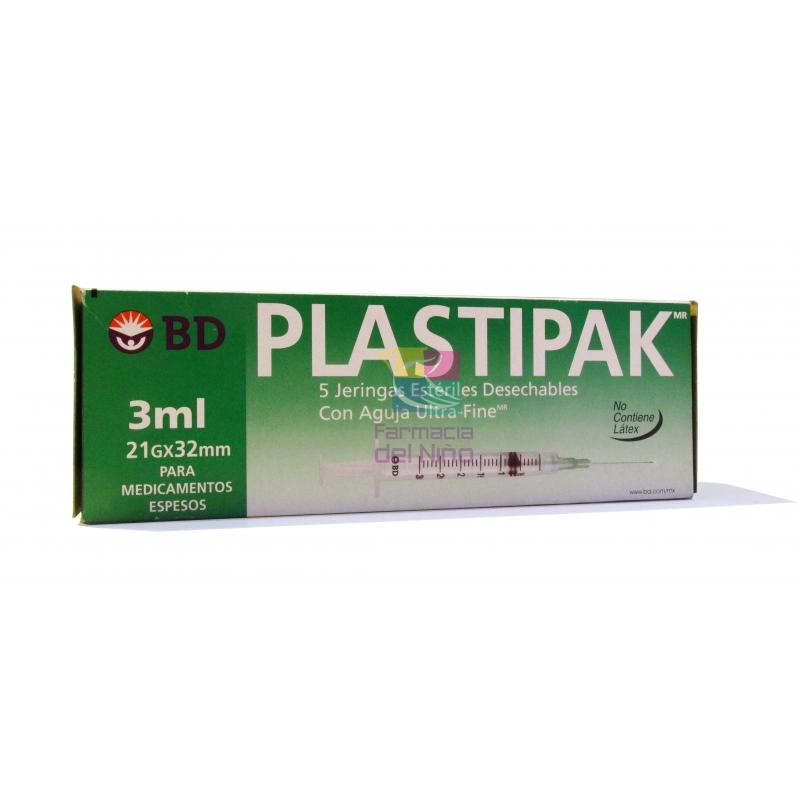 JERINGA PLASTI-PAK AGUJA 21x32  3ML 5