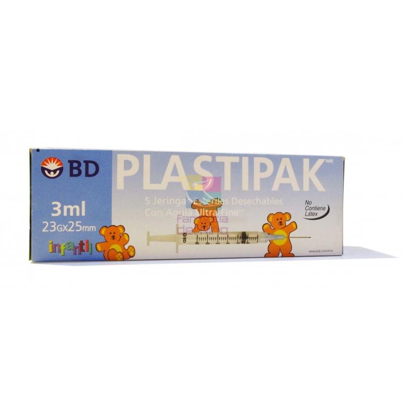 JERINGA PLASTI-PAK INFANTIL AGUJA 23x25 3ML 5