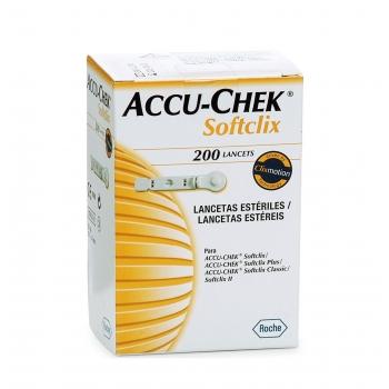 LANCETAS ACCU CHECK SOFTCLIX C/200