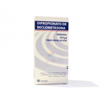 DIPROPIONATO DE BECLOMETASONA aerosol 250 mcg 200 dosis inhalador