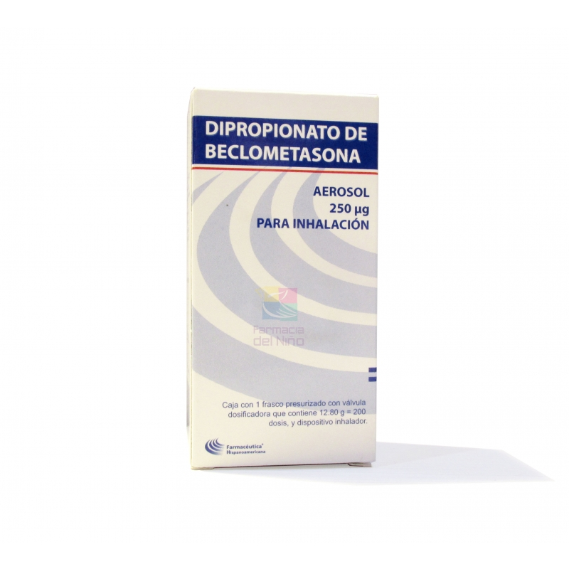 BECLOMETHANE DIPROPIONATE inhaler 250 mcg 200 doses