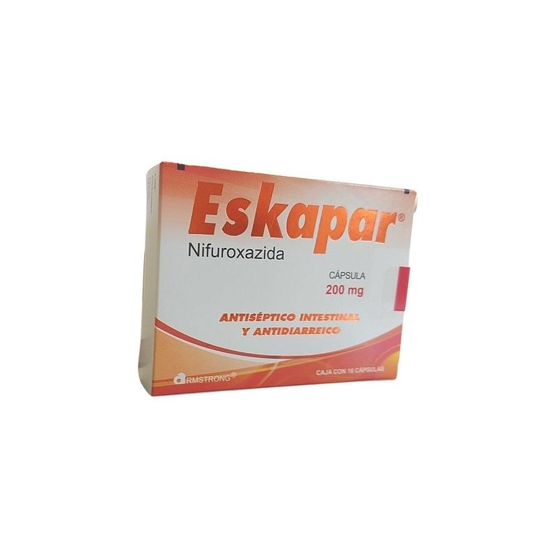 ESKAPAR (NIFUROXAZIDE) 16 CAPS 200MG