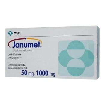 JANUMET (SITAGLIPTINA / METFORMINA) 50/1000MG 56TAB