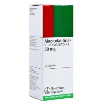 MACRODANTIN (NITROFURANTOIN) 50MG 40CAPS - Farmacia Del