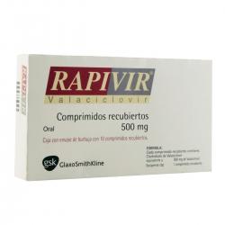 RAPIVIR (VALACYCLOVIR) 500MG 10TAB - Farmacia Del Niño