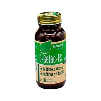 D-GELAC+FS (FIBRA/LACTOBACILOS/CLOROFILA) 30 CAPSULAS