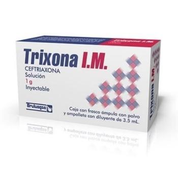 TRIXONA I M (CEFTRIAXONA) 1.0G SOL. INYECTABLE - Farmacia