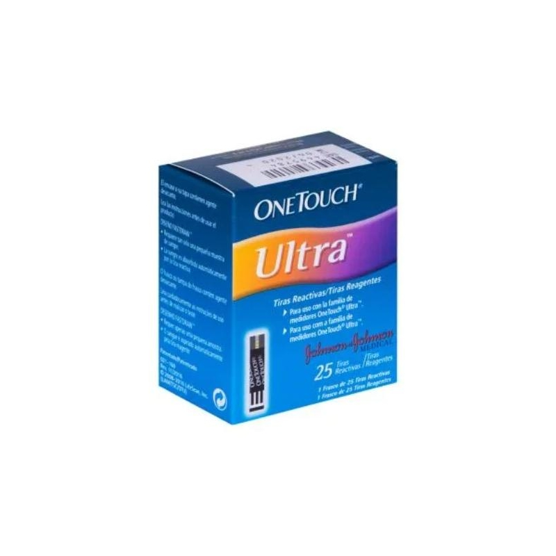 ONE TOUCH ULTRA (GLUCOSE OXIDASE, FERRICIANIDE) 25 REACTIVE STRIPS