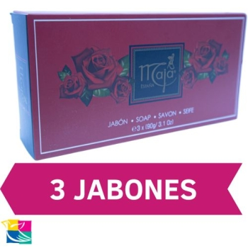 MAJA CASE WITH  3SOAPS  OF 90G EACH