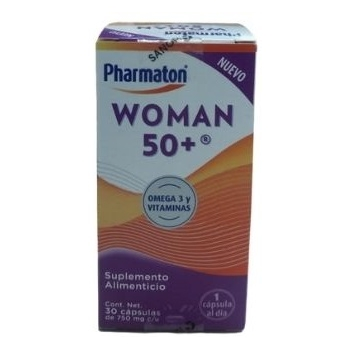 PHARMATON WOMAN 50+ (OMEGA 3, EPA, DHA, RIBOFLAVINA, VITAMINA B6, C, E, ACIDO FOLICO, CROMO, HIERRO, SELENIO, ZINC.) 750 MG 30 CAPSULAS