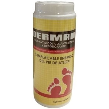DERMAN TALC ANTIMICOTIC, ANTISEPTIC AND DEODORANT BOTTLE WITH 80G