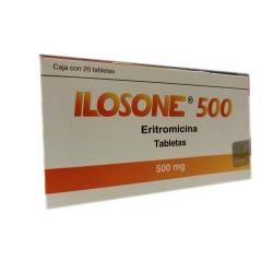 ILOSONE (ERYTHROMYCIN) 500MG 20PILLS - Farmacia Del Niño