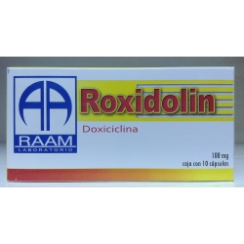 ROXIDOLIN (DOXICICLINA) 100MG 10 CAPSULAS - Farmacia Del