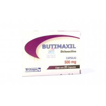 BUTIMAXIL (DICLOXACILINA) 500MG 20CAPSULAS - Farmacia Del