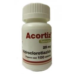 ACORTIZ (HIDROCLOROTIAZIDA) 25MG 100TAB