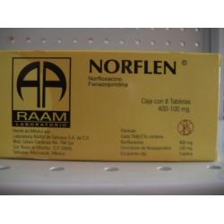 Norflen Norfloxacin Fenazopidina 400 100mg 8tab