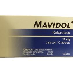 MAVIDOL (KETOROLACO) 10MG 10TABLETAS - Farmacia Del Niño