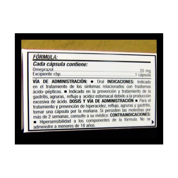 GENOPRAZOL (OMEPRAZOLE) 20MG 14CAPSULAS