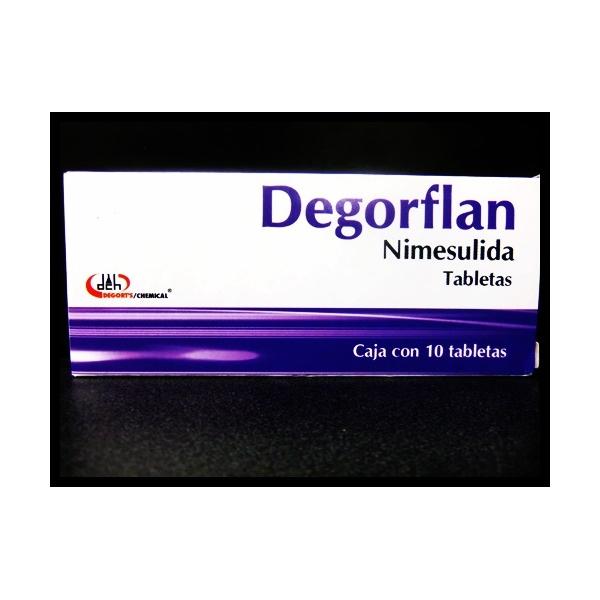 DEGORFLAN (NIMESULIDA) 10TABLETAS