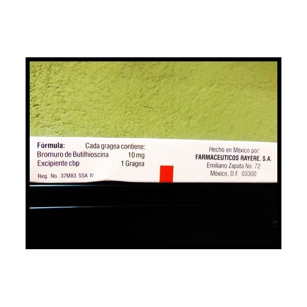 BUTIRAL (Butilhioscina) 10mg 10grageas