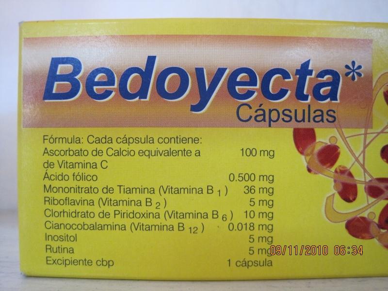 BEDOYECTA (B COMPLEX/FOLIC ACID) 30CAP
